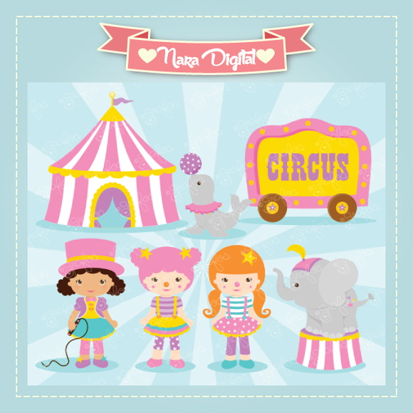Kit Digital Scrapbook Circo N11