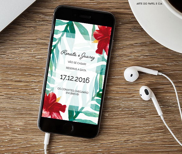 Save The Date Digital - Tropical