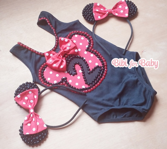 Collant Infantil Minnie Super Luxo
