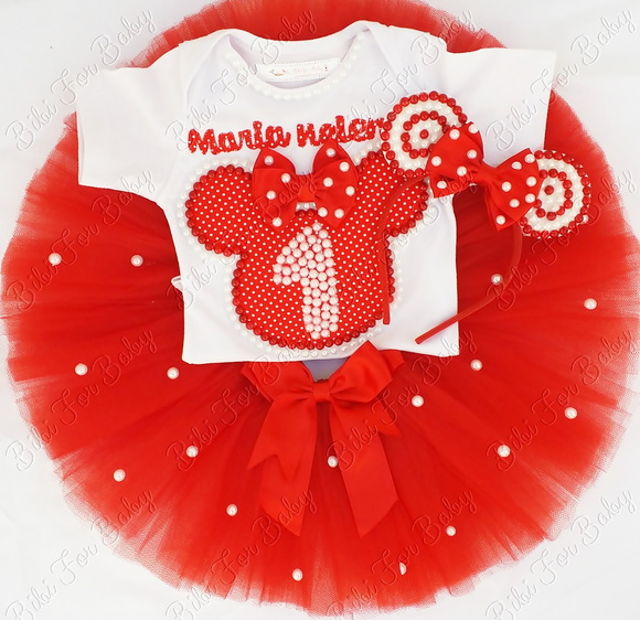 Fantasia Infantil Minnie Super Luxo 2