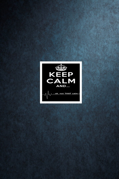 "Quadro 20 x 20 ""Keep Calm NOT"""