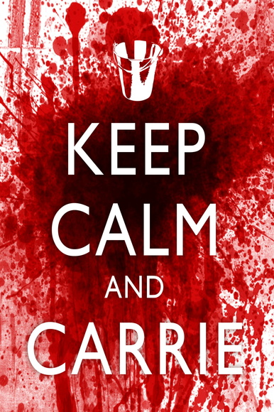 "Quadro 20 x 20 ""Keep Calm and Carrie"""