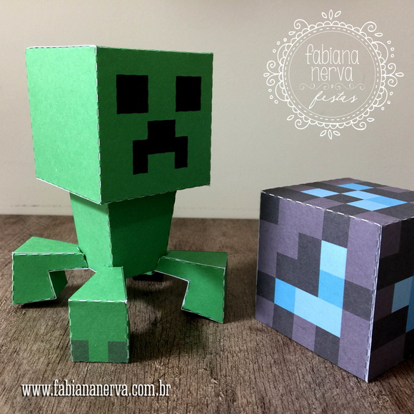 Paper Toy CREEPER MINECRAFT