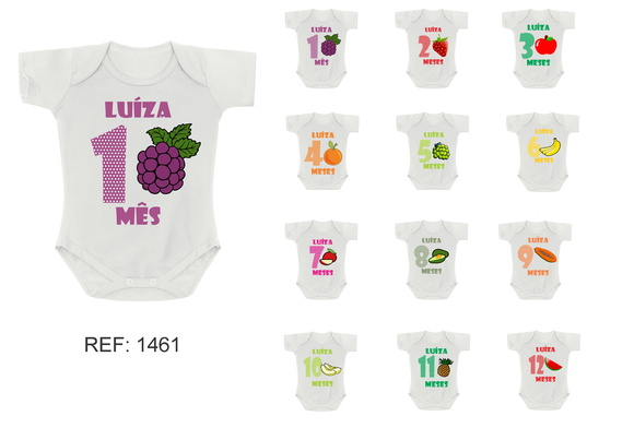 Kit 12 Body Mesversario Frutas