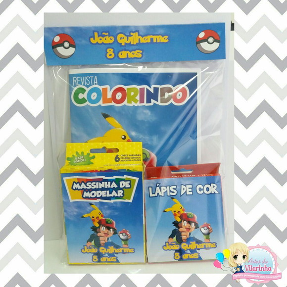 Kit colorir - Pokemon