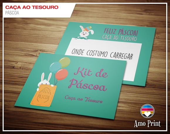 Kit Digital Caça ao Tesouro de Páscoa