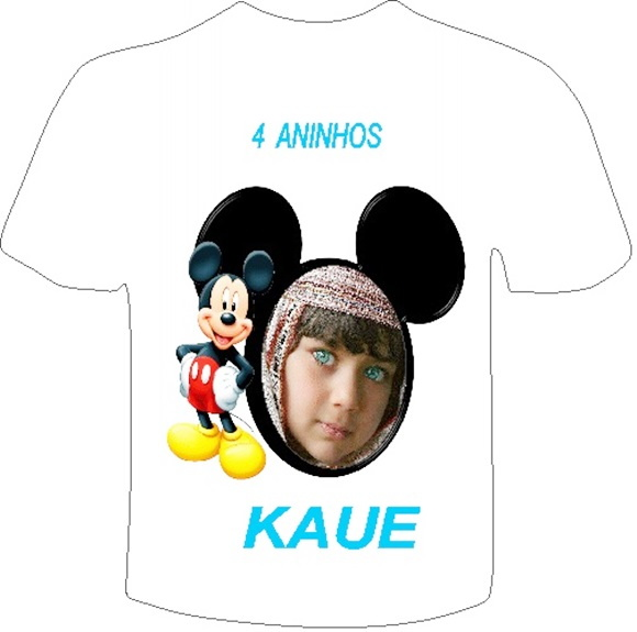 KIT 3 CAMISETA PERSONALIZADA MICKEY
