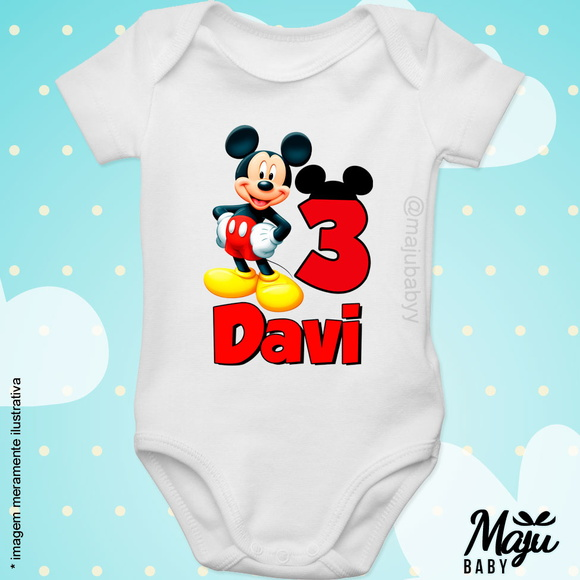 Body Personalizado Mickey