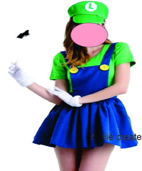 Fantasia do luigi feminina adulto