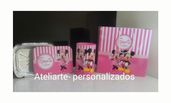 Kit personalizado Minnie Rosa