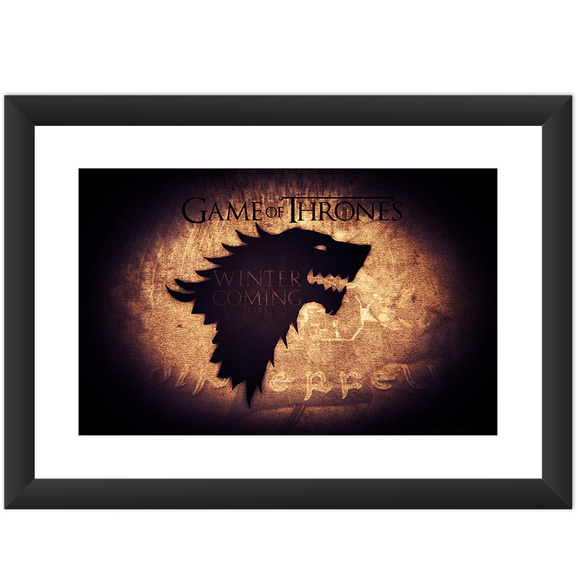 Quadro Game of Thrones Serie Casa Stark