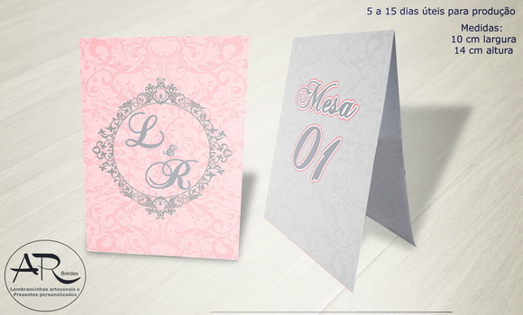 Numerador de Mesa tema Wedding 2