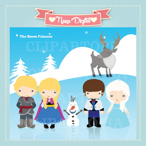 Kit Digital Scrapbook Frozen N53