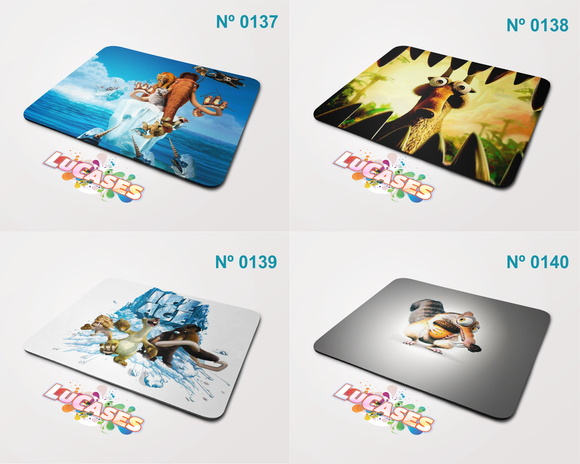Mouse Pad Era do Gelo Manny Sid Ice Age