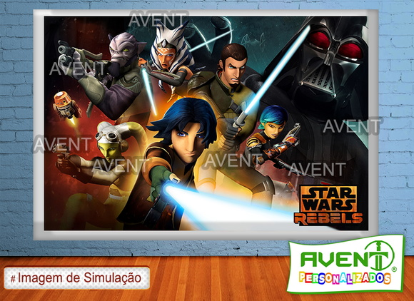 Banner em lona 1x1,5 Star Wars Rebels(2)