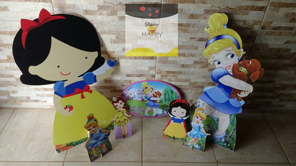 Kit Princesas Disney Baby cute - mdf