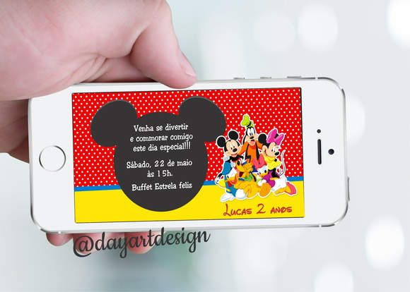Convite digital A Casa do Mickey mouse