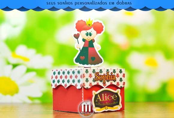Caixa Brownie Vermelha Alice Cute