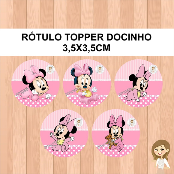 Rótulo Topper Minnie Baby