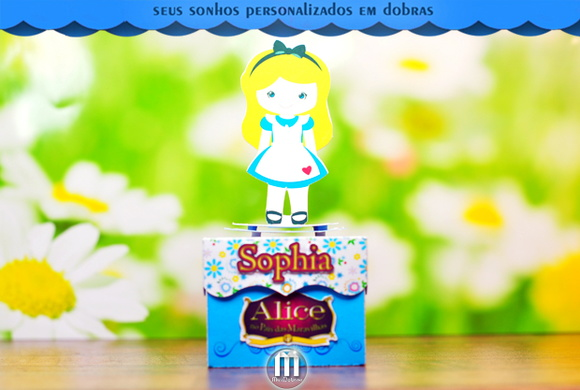 Caixa Brownie Azul Alice Cute