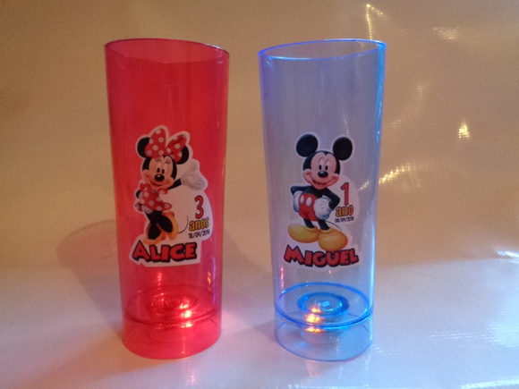 Copo Pisca Pisca c/ LED Mickey e Minnie