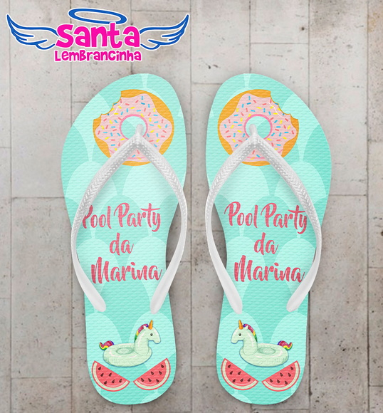 Chinelo Pool Party Piscina Infantil