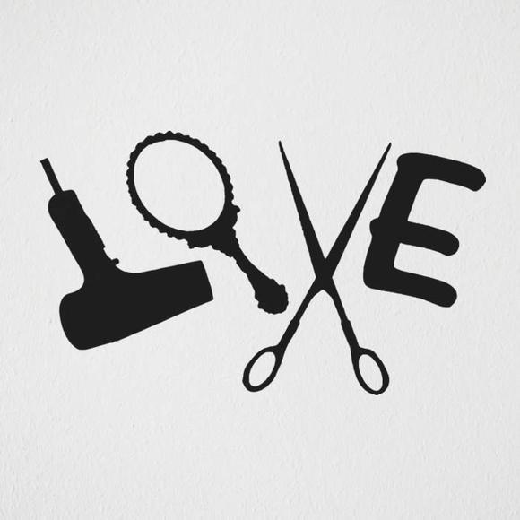 Aparador Ferro Mercado Livre ~ Adesivo sal u00e3o beleza love cabeleireiro LD Creativity Store Elo7