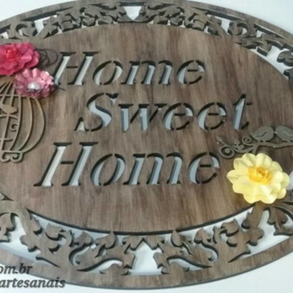 Placa Porta Home Sweet Home