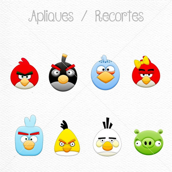 Apliques/Recortes Angry Birds