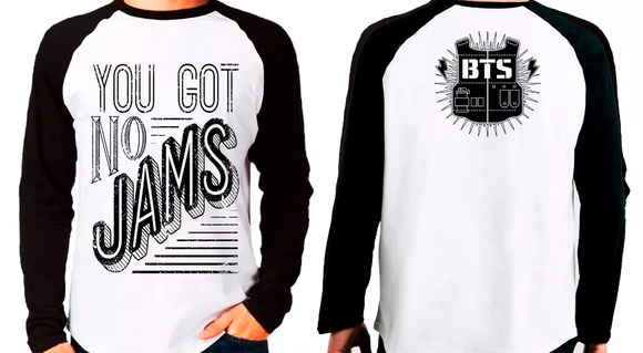 Camiseta Bts You Got No Jams M. Longa