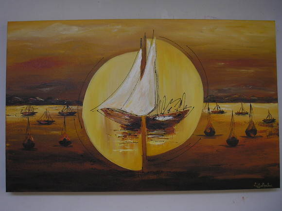 "Painel ""Barcos ao Mar"""