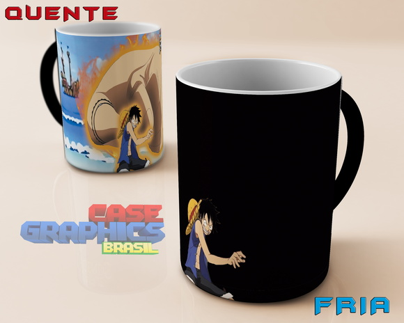 Caneca Mágica LUFFY ANIME ONE PIECE