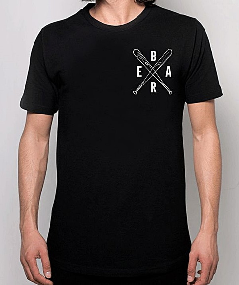 CAMISETA MASCULINA-BLACK BEAR-BASEBALL