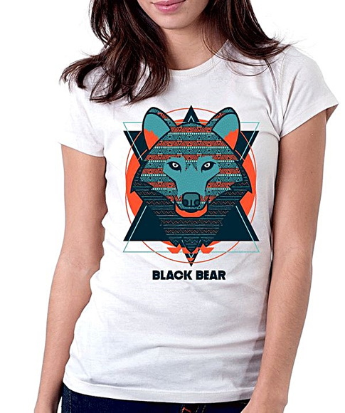 BABY LOOK - BLACK BEAR - WOLF