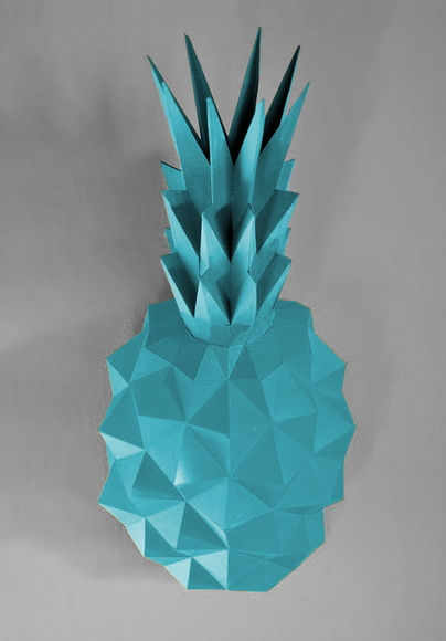 abacaxi parede papercraft