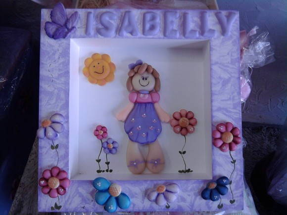 Quadro 16x16 biscuit lilas