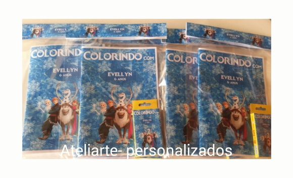 Kit Colorir Frozen