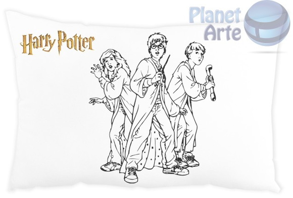 Almofada para colorir Harry Potter