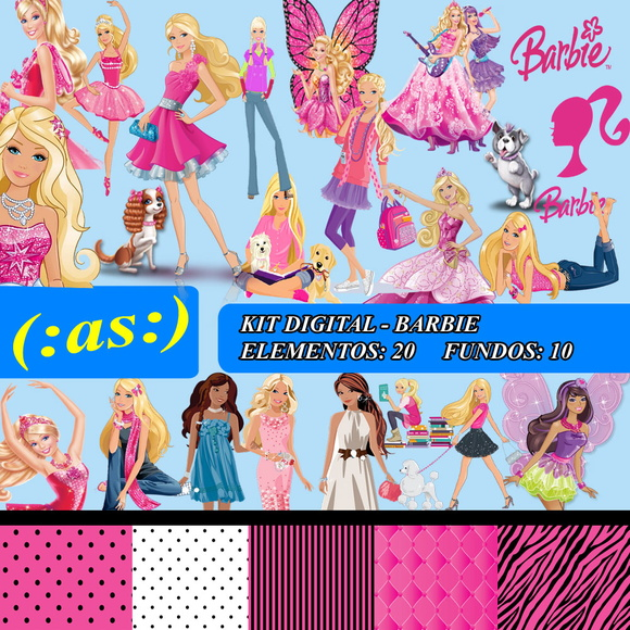 Kit Digital Scrapbook Barbie