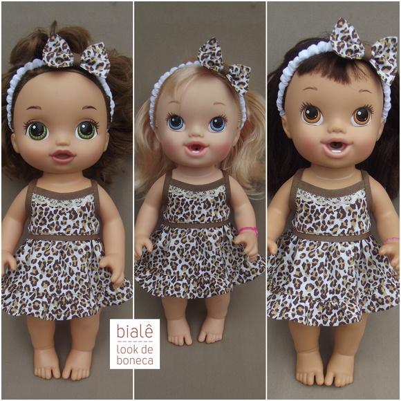 Vestido Tiara Oncinha Baby Alive Menores No Elo7 Bial 234