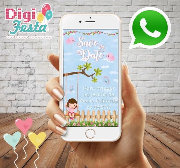Save the Date - Digital whatsapp no Elo7   DigiFesta (8FC620)
