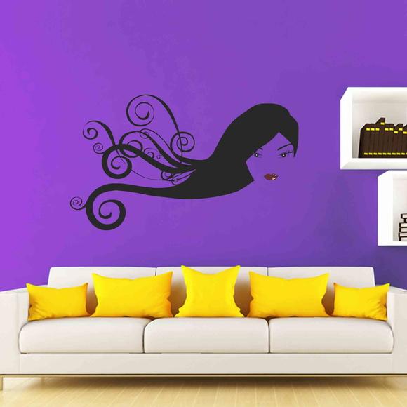 Armario Horizontal Cozinha ~ Adesivo Decorativo Rosto de Mulher Tillu Elo7