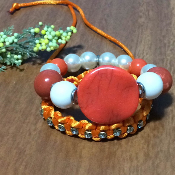 DUO BRACELETE ORANGE