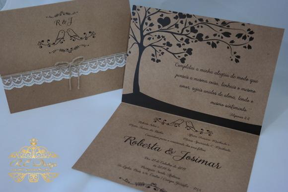 Convites De Casamento Renda Monograma Elo7