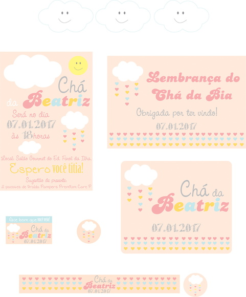 Kit digital Festa Chuva de Amor Rosa