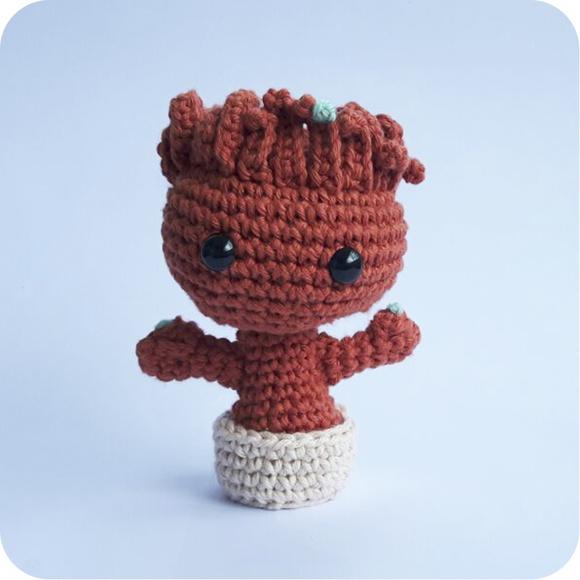 Amigurumi Patterns Groot : Baby Groot - amigurumi Loloca Elo7