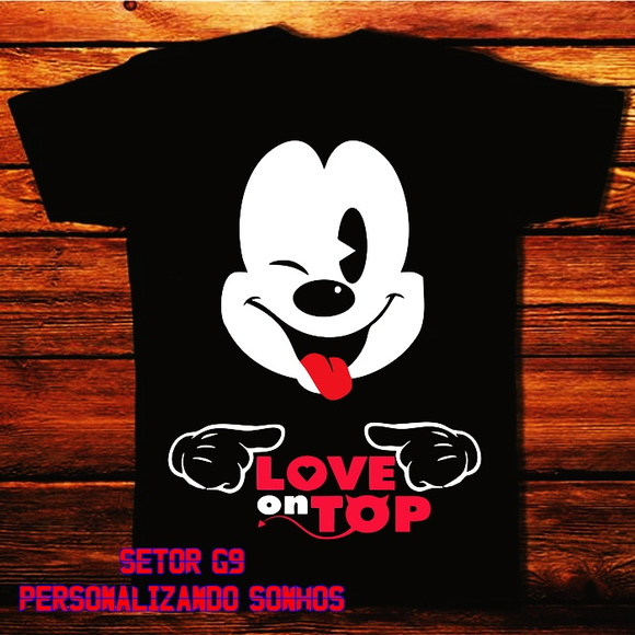camiseta mickey love top