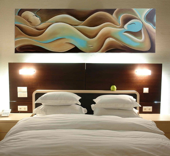 Quadro para quarto casal 50x150 pictorama decor elo7 for Quadros dormitorio