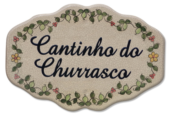 Cantinho do churrasco, azulejo decorado