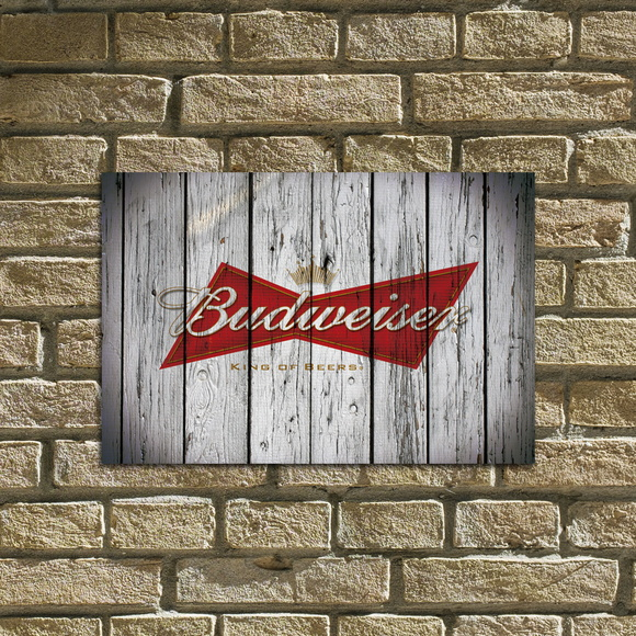 "Placa Decorativa ""Budweiser"""